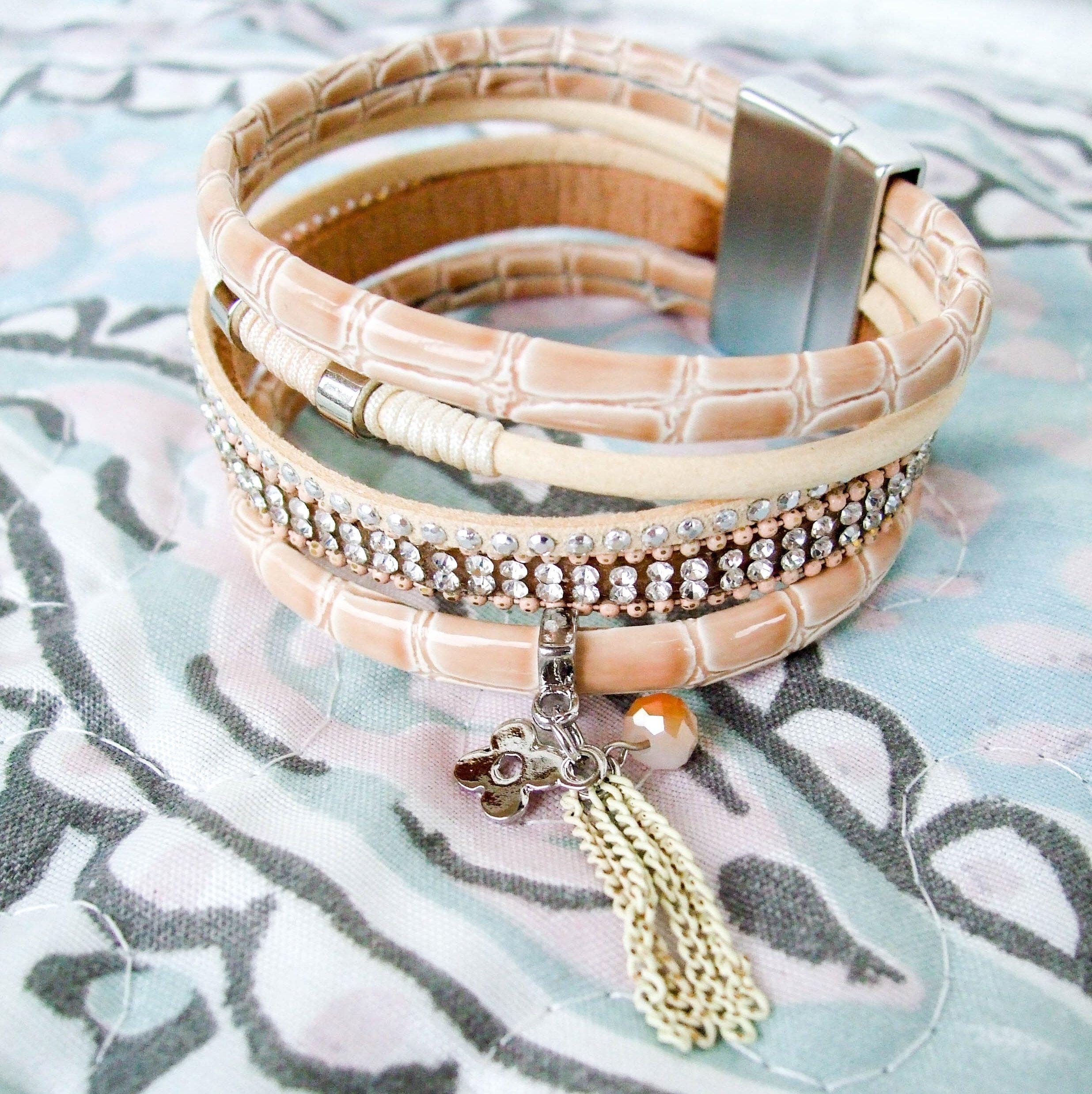 Многослойный браслет на магнитном замке - купить