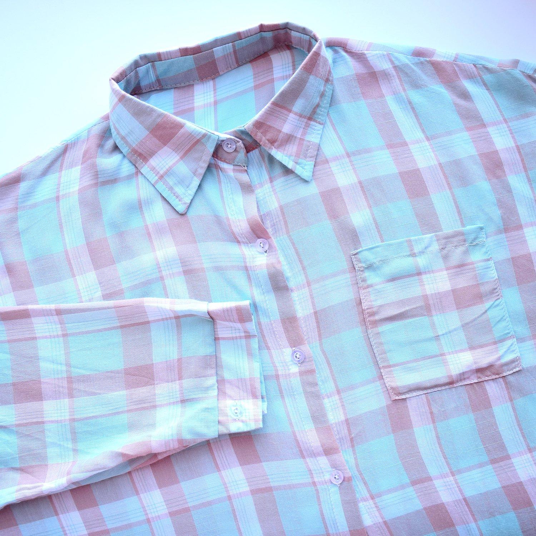 Рубашка в клетку с AliExpress - характеристики