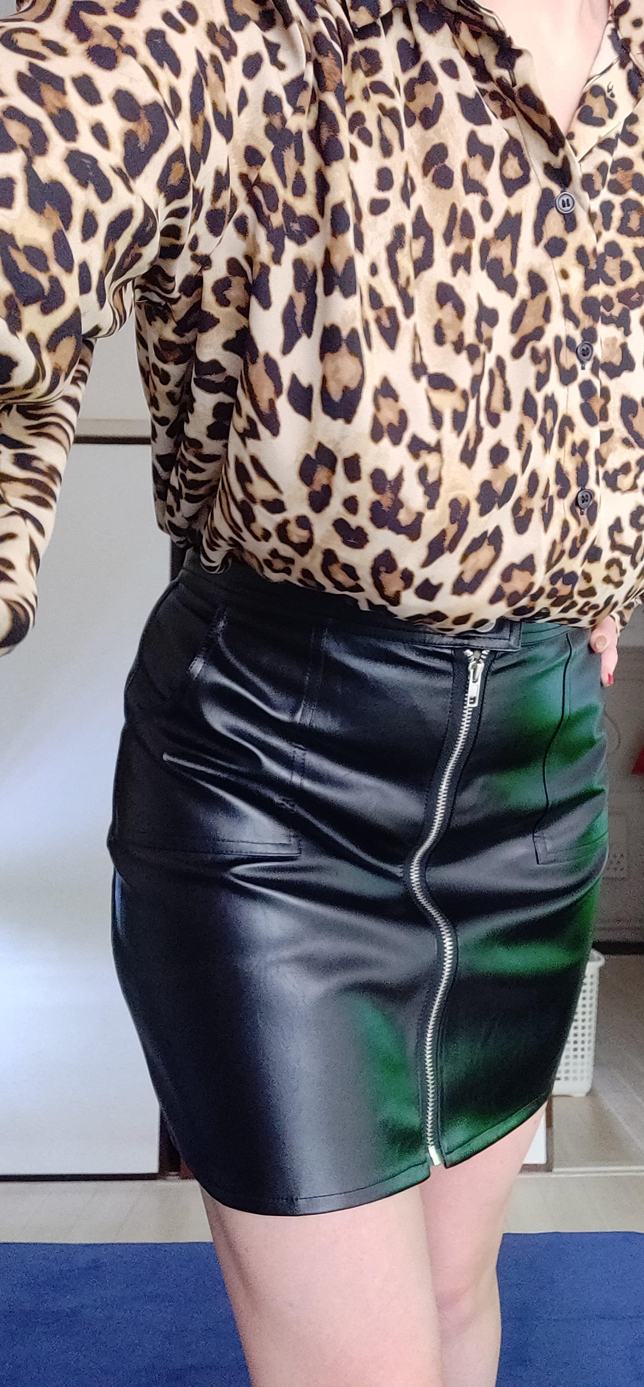 Шикарная юбка из искусственной кожи от N.XINZHE - отзывы