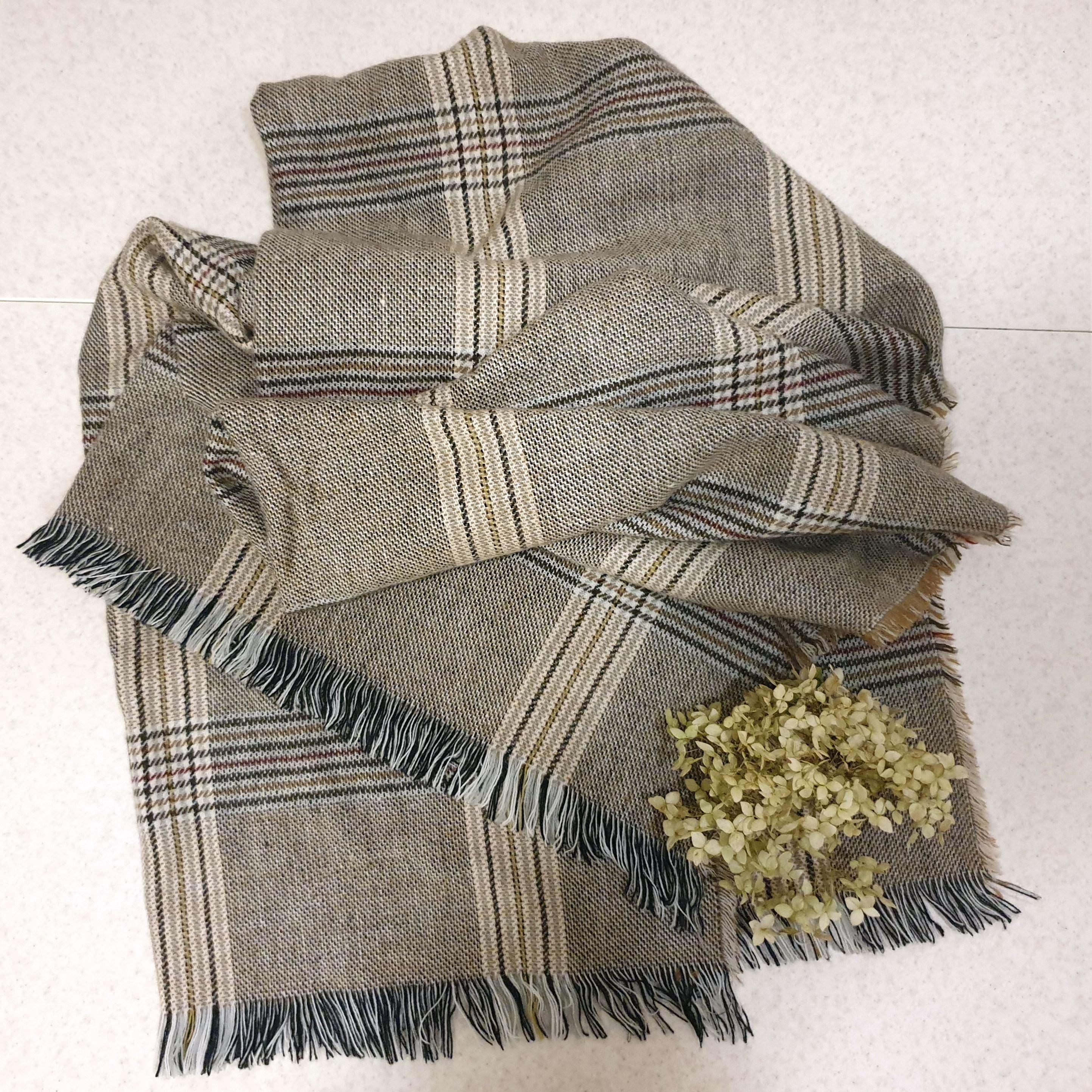 Уютный шарф-плед с классическим рисунком. - aliexpress