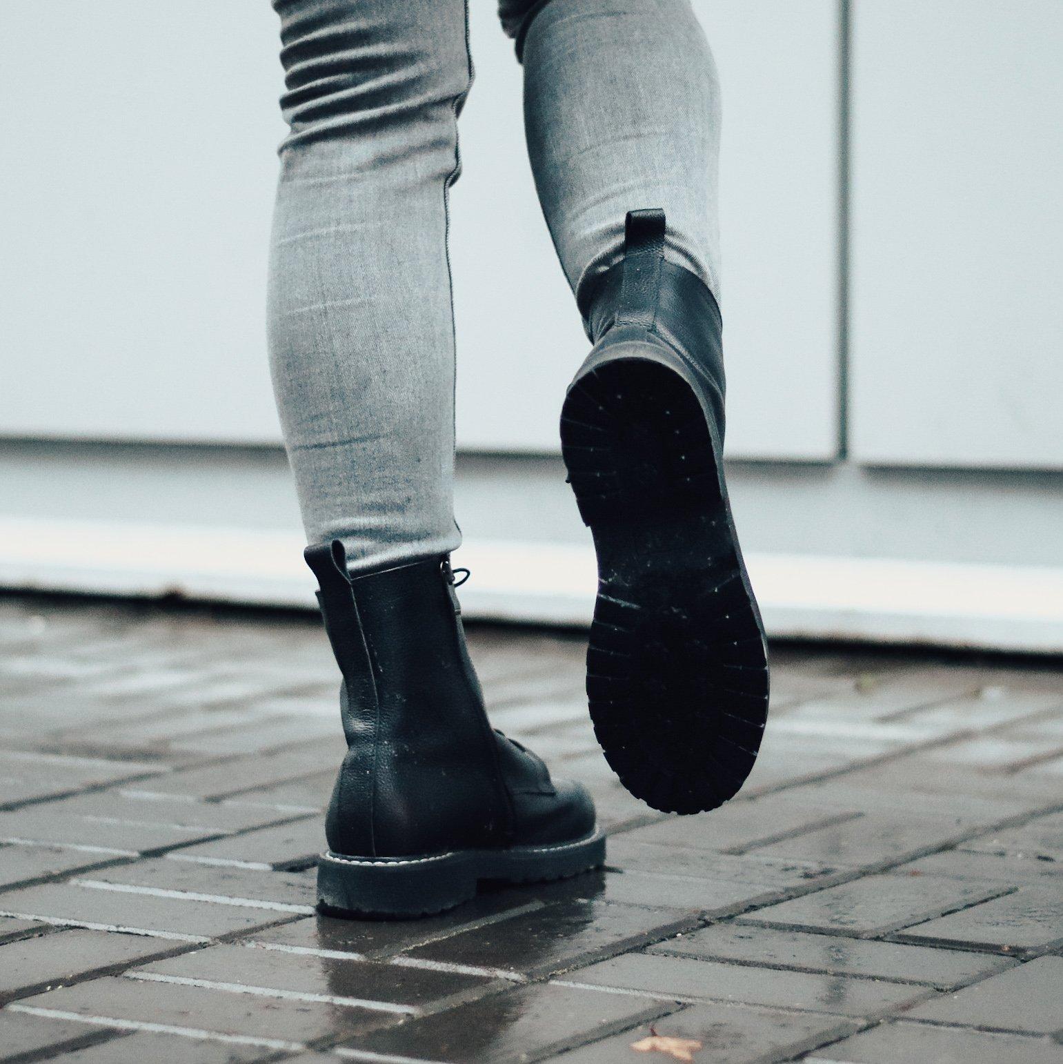 Ботинки из натуральной кожи - кожаные ботинки
