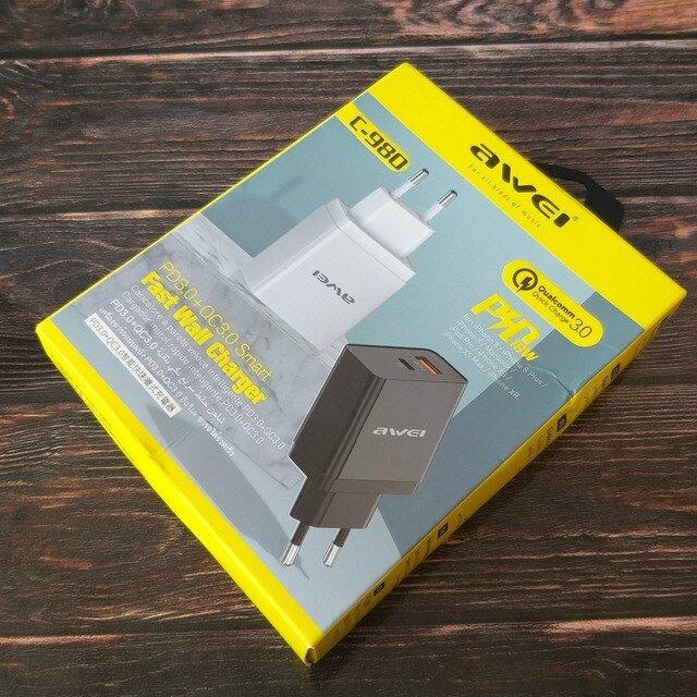 AWEI C-980 зарядное устройство 18 Вт. Поддерживает быструю зарядку. - отзывы