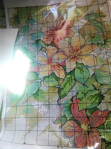 Вышивальный набор Бабочка на цветах.