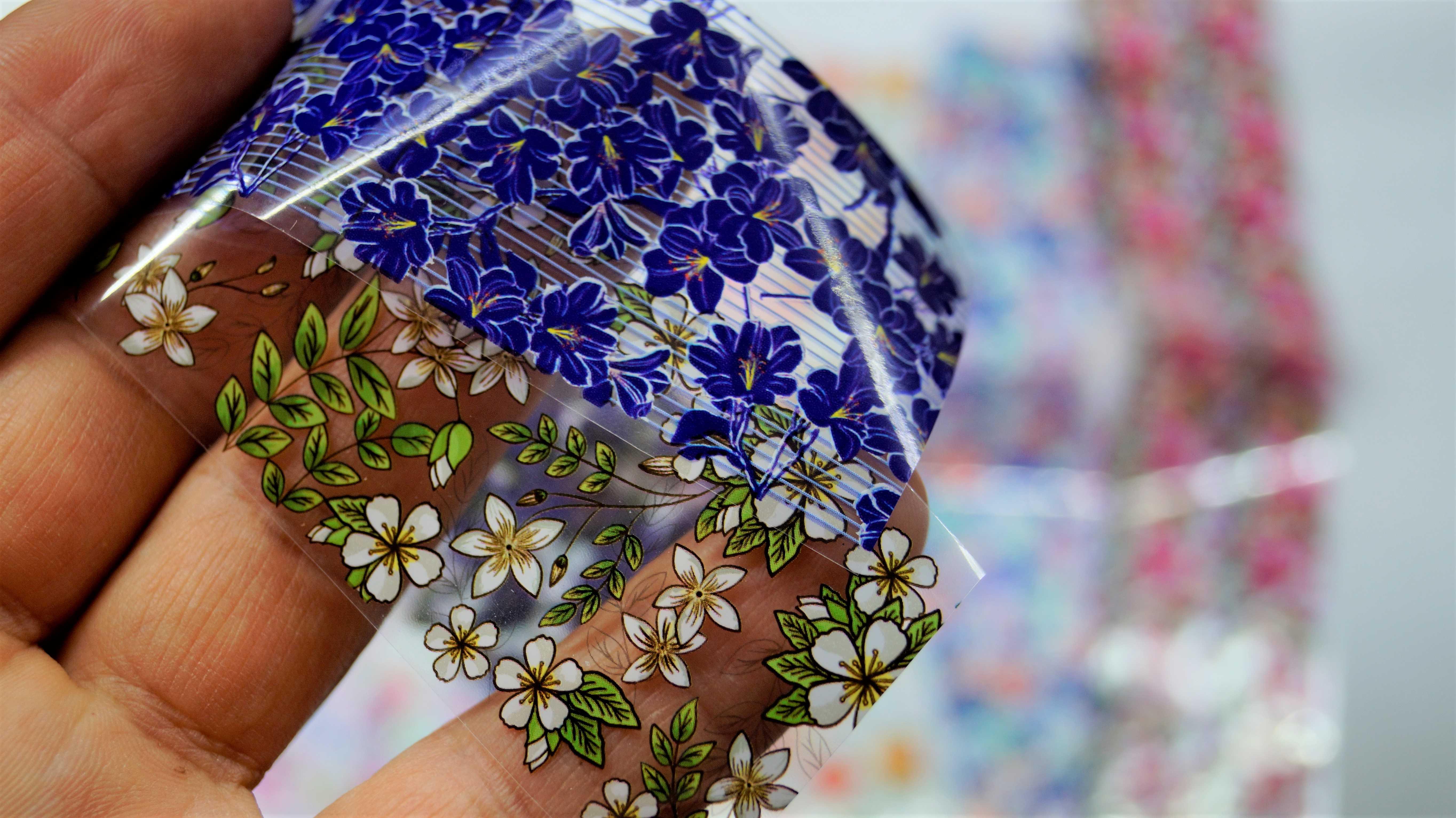 Красивые цветочные наклейки для ногтей - обзор