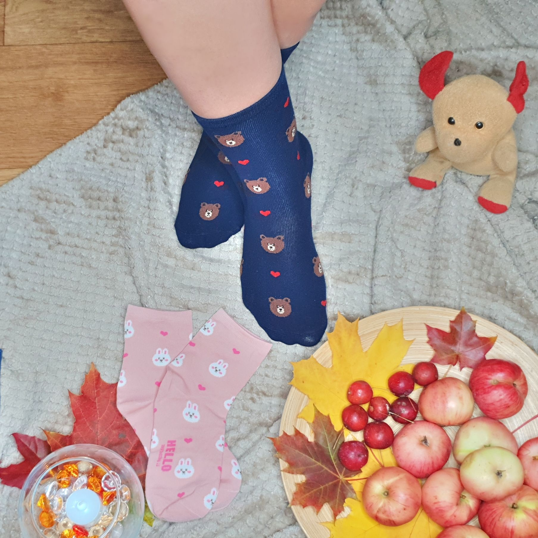Забавные мягкие, эластичные и очень удобные носки - инструкция