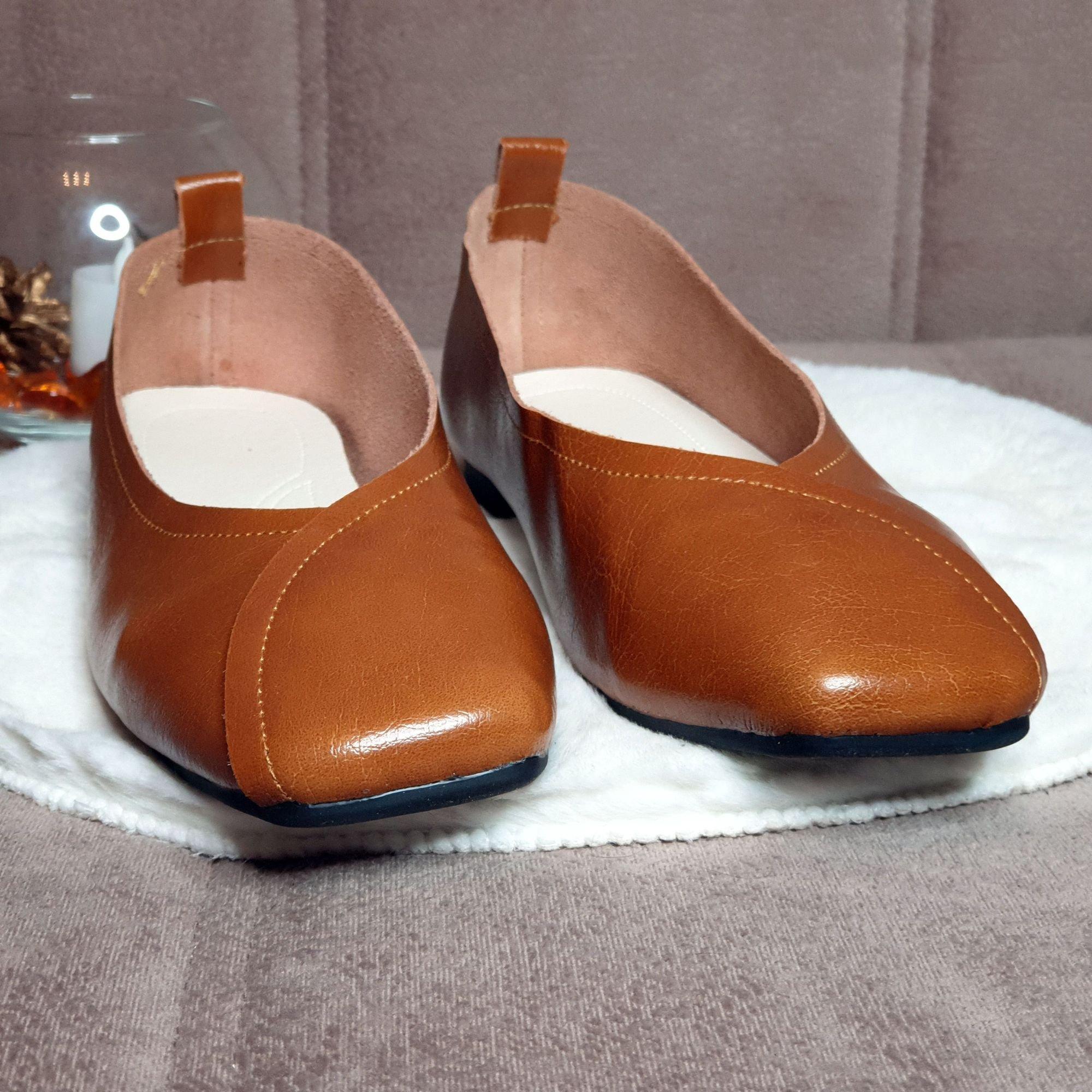 Отличные кожаные туфли на каждый день: распаковка и примерка. - купить