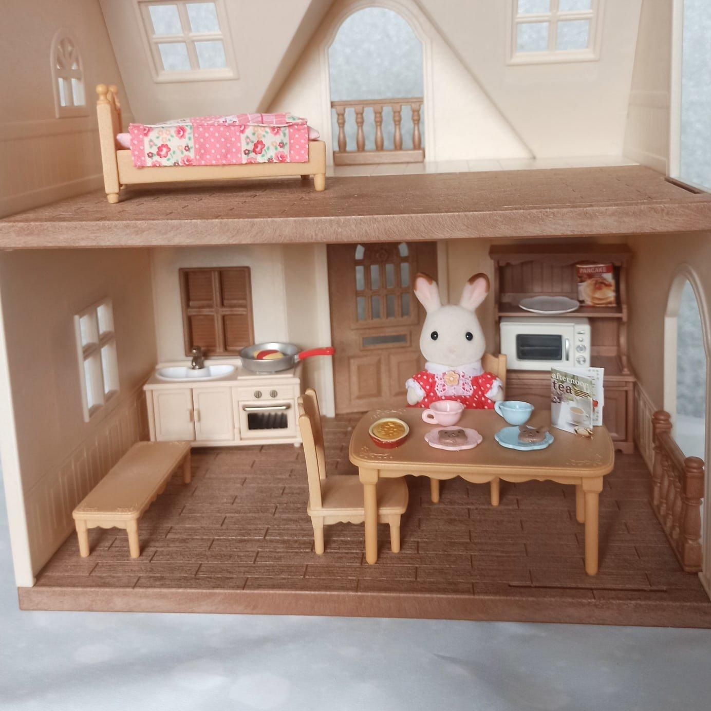 Комплект принадлежностей для кухни и мебели для игрового набора Sylvanian Families. - aliexpress
