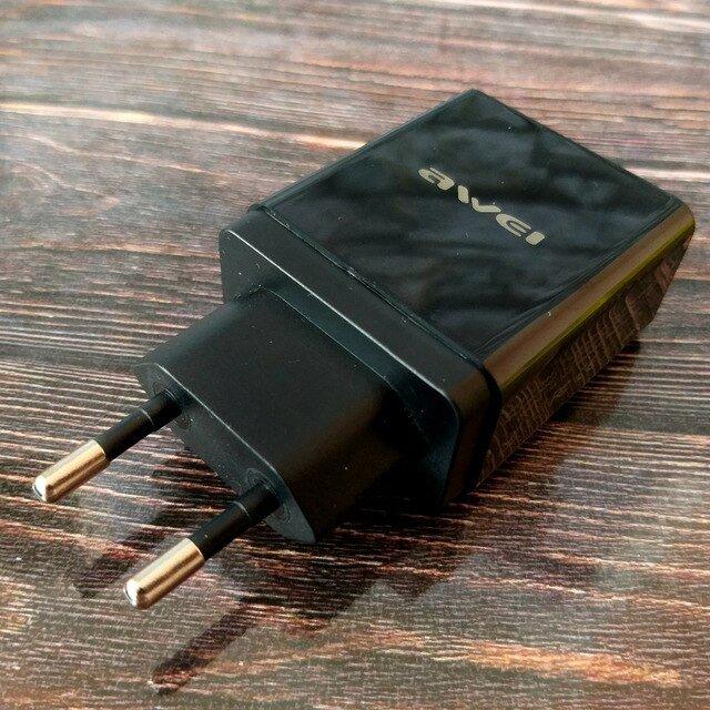 AWEI C-980 зарядное устройство 18 Вт. Поддерживает быструю зарядку. - обзор