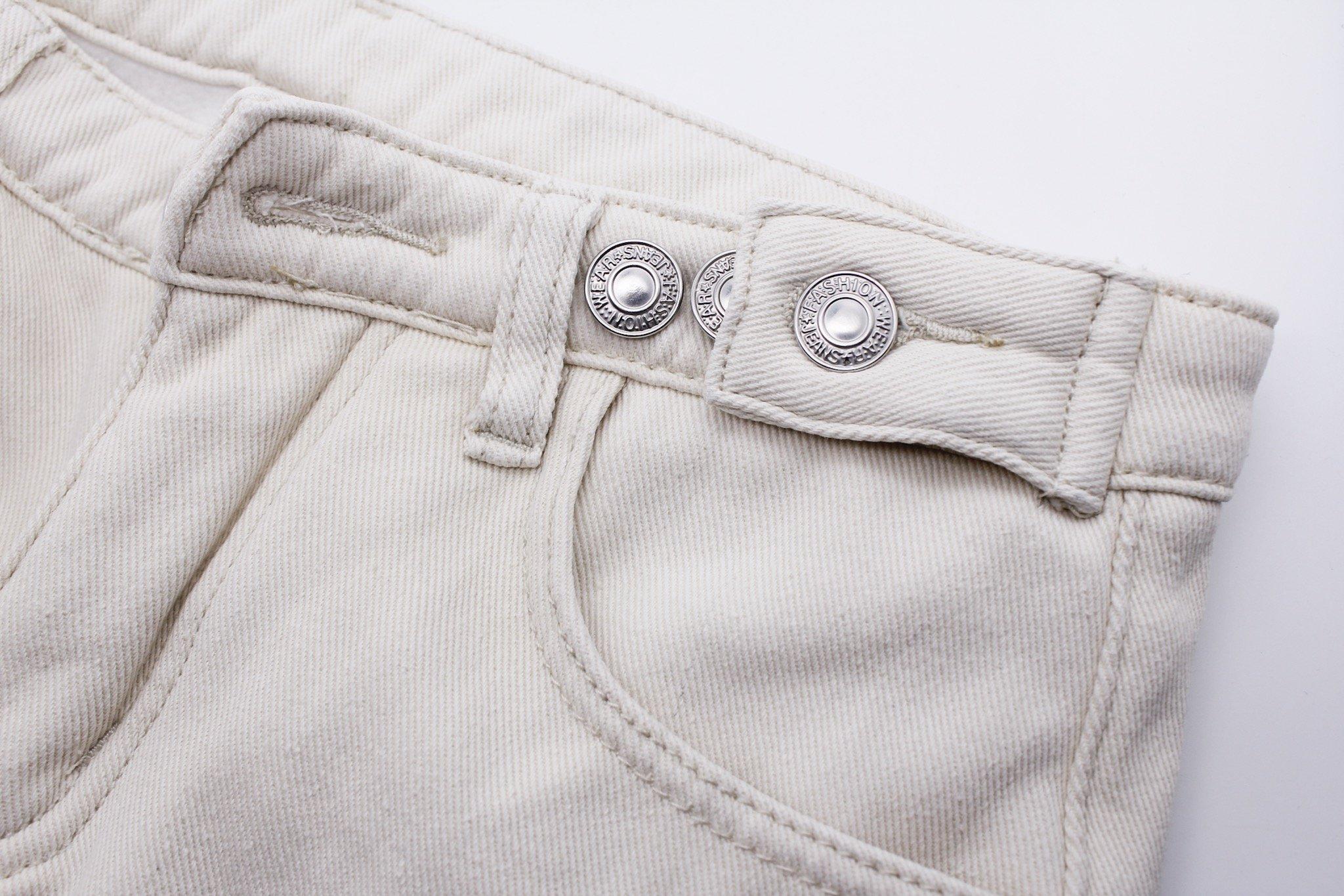 Прямые белые джинсы на флисе с Алиэкспресс