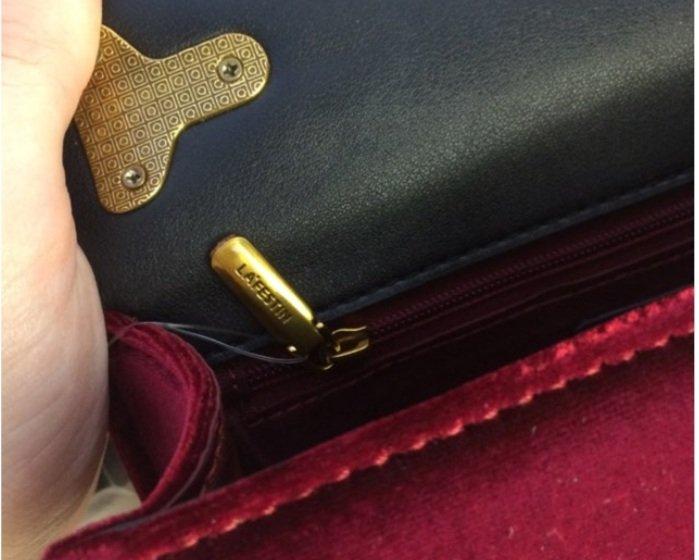 Бархатная сумочка