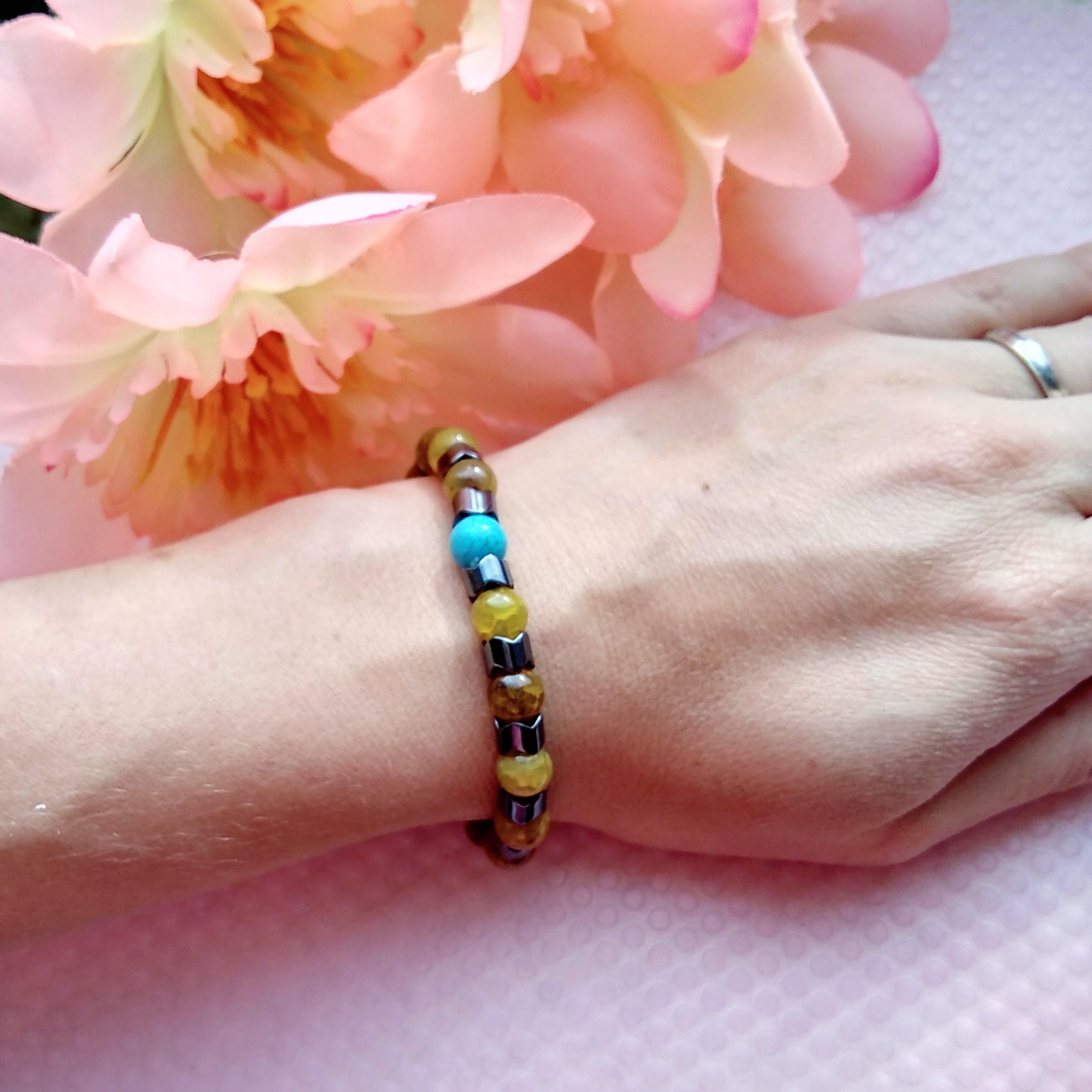 Гематитовый браслет из магазина AODUOLA Official Store - купить