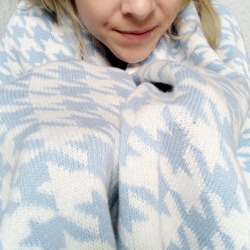 Обзор на хлопковое одеяло с интересным принтом - купить