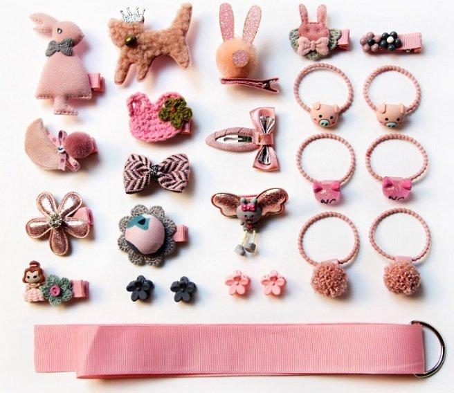 Подарочный набор в коробке. 24 шт. Мультяшные животные, заколки для волос для девочек. - купить