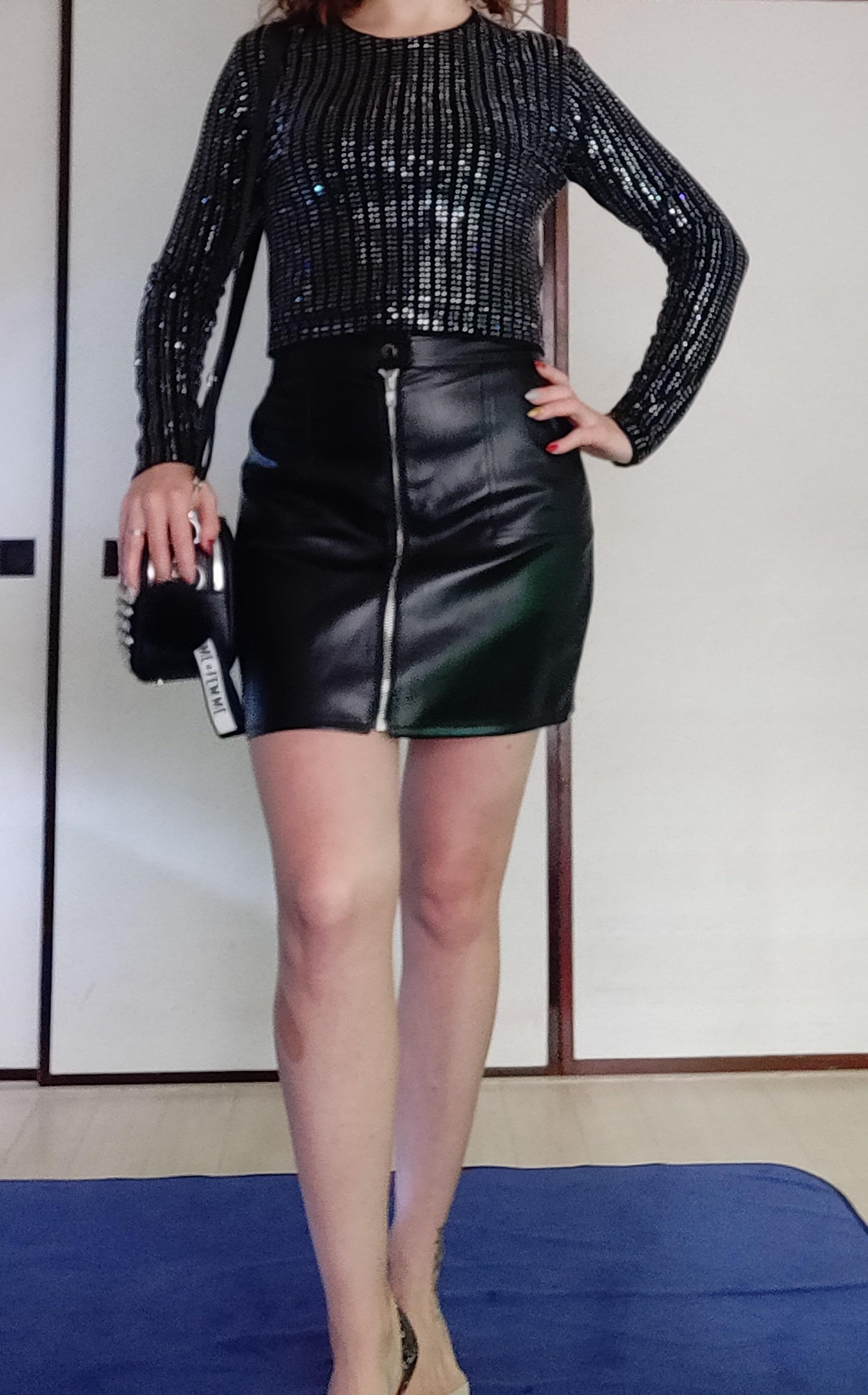 Шикарная юбка из искусственной кожи от N.XINZHE