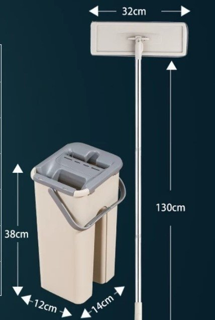 Швабра DARIS с отжимом Flat Squeeze Mop - инструкция