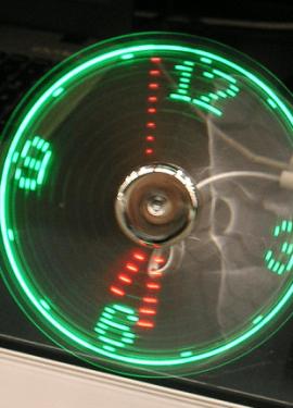 USB вентилятор с индикацией температуры или времени