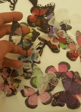 Симпатичные бабочки для украшения интерьера