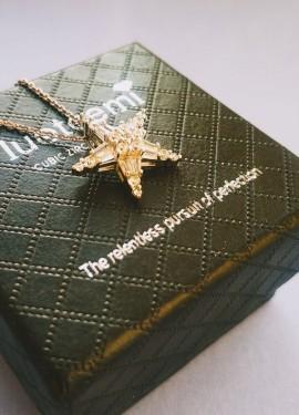 Красивая бижутерия из LUOTEEMI Official Store - цепочка с подвеской