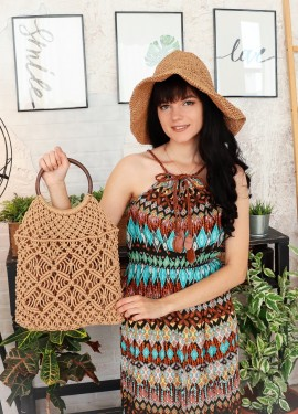 Плетёная сумка RERERAXI