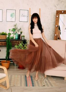 Красивая тюлевая юбка EZSSKJ