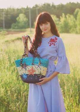Пляжная соломенная сумка JIN QIAO ER