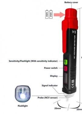 Non-contact AC Voltage Detector Tester
