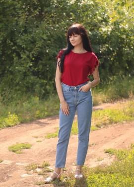 Классные джинсы Мом Luckinyoyo