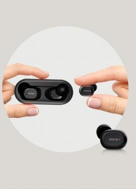 QCY QS1 Mini Dual V5.0 Беспроводной Bluetooth наушники 3D стерео звук   QCY QS2 наушники-вклады