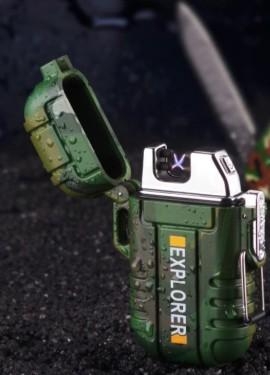 Зажигалка-разжигалка EXPLORER плазменная USB с двойной дугой камуфлированная. Не нужен газ и бензин