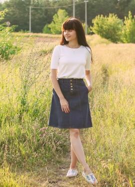 Классная джинсовая юбка Streamgirl