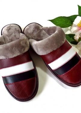 Уютные женские тапочки из натуральной кожи - ваши ножки будут всегда в тепле!