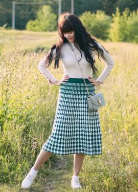 Крутая плиссированная юбка на осень SMTHMA
