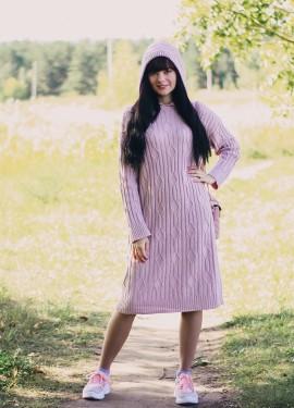 Уютное вязаное платье EZSSKJ