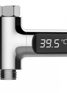 Water Shower Thermometer Flow Self-Generating Electricity.