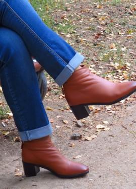Крутые осенние ботинки из натуральной телячьей кожи