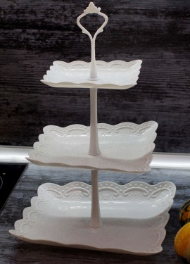Пластиковая многоярусная подставка-этажерка для фруктов