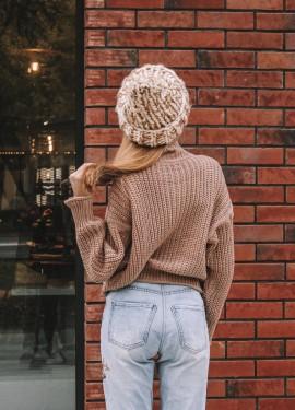 Стильный однотонный свитер с Алиэкспресс