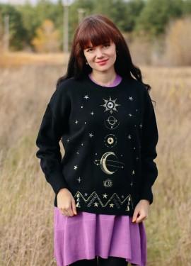 Объемный свитер с вышивкой WARMSWAY