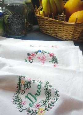 Хлопковые полотенца с вышивкой