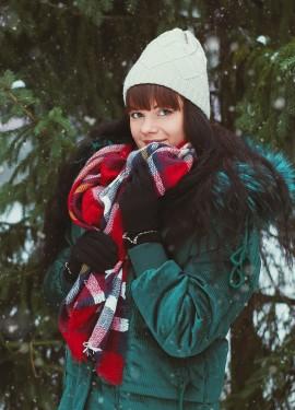 Теплый шерстяной платок Kallove