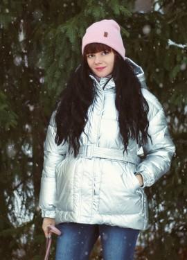 Теплая курточка-металлик Xiaoxiao