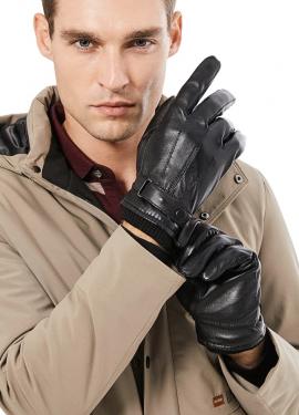 Кожаные мужские перчатки с Алиэкспресс за 516 рублей