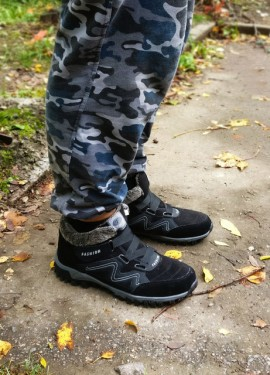 Высокие мужские ботинки на искусственном меху.