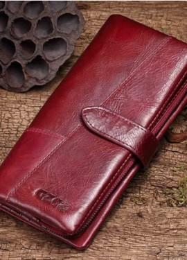 Женский кошелек из натуральной кожи фирмы GZCZ из магазина AliExpressGZCZ Official Store