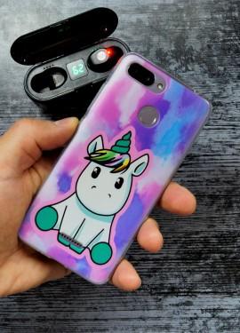 Фиолетовый силиконовый бампер для Xiaomi Redmi 6