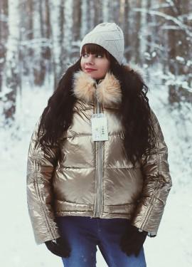 Золотая куртка-металлик AREQ