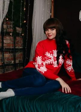 Новогодний свитер со снежинками Xiaoxiao