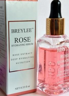 O soro facial BREYLEE contém um extrato natural de rosa que proporciona maciez e hidratao  pele.