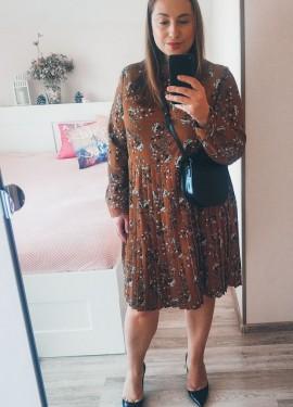 Платье с юбкой плиссе Metersbonwe с Алиэкспресс. Примерка и обзор.