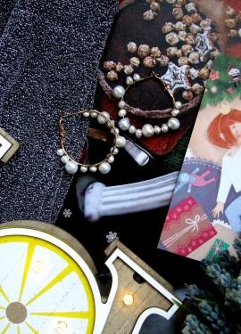 Серьги-кольца с барочным жемчугом